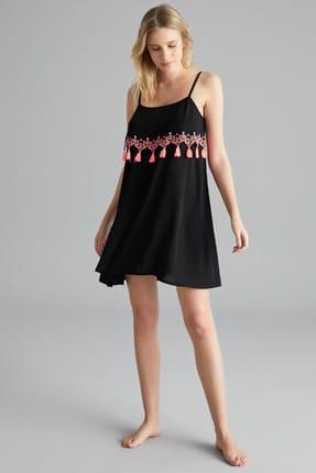 Penti Siyah Boho Tassel Elbise