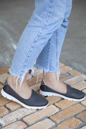 Milanoor Kadın Antrasit Fileli Ayakkabı P-014691