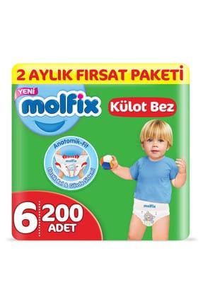 Molfix Külot Bez 6 Beden Ekstra Large 2 Aylık Fırsat Paketi 200 adet