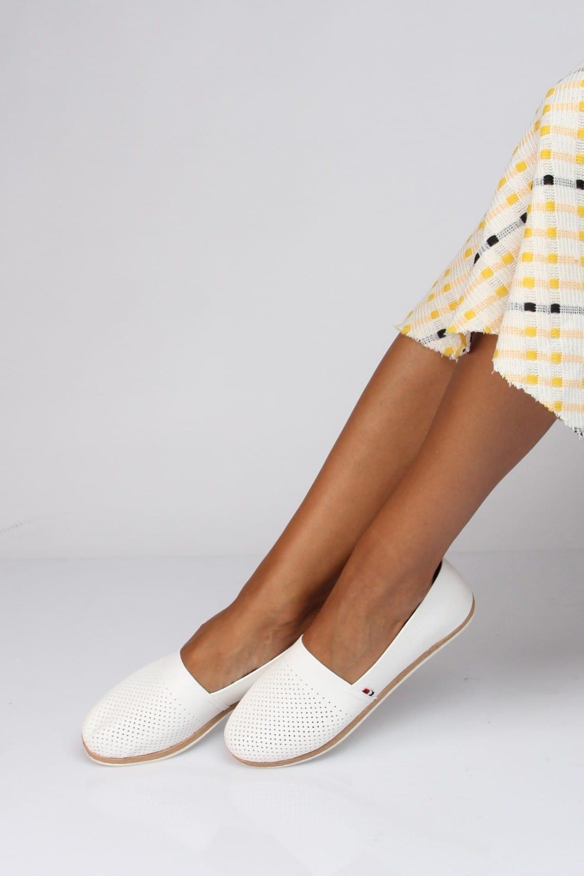 Shoes Time Beyaz Kadın Babet 19Y 151 1