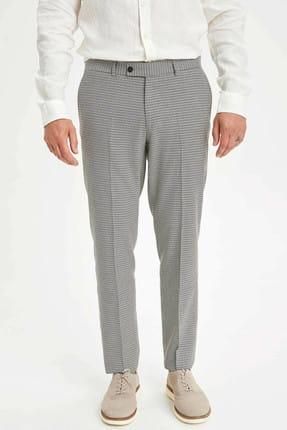 DeFacto Erkek Kahverengi Modern Slim Fit Pantolon L5091AZ.19HS.BN323