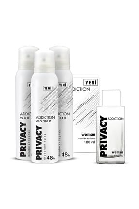 Privacy Addiction Edt Kadın Parfüm 100 ml + 3'lü Deodorant 150 ml ADD1-2