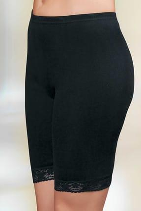 Şahinler Kadın Siyah Dantelli Ribana Tayt MB005