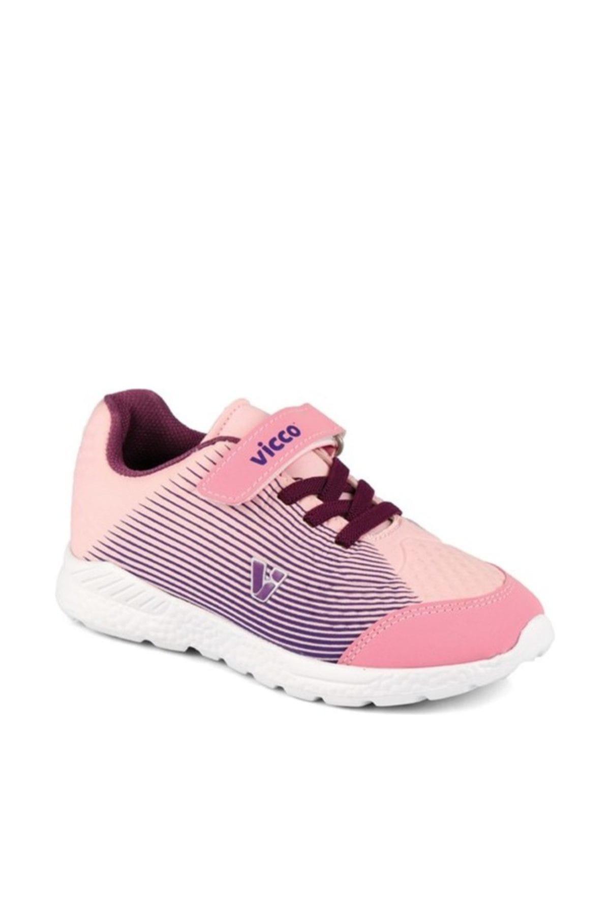 Vicco Pembe Mor Bağcıklı Spor Ayakkabı 1