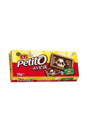 Eti Petito Ayıcık Mini Sütlü Çikolata 32 Gr. (16 Adet)