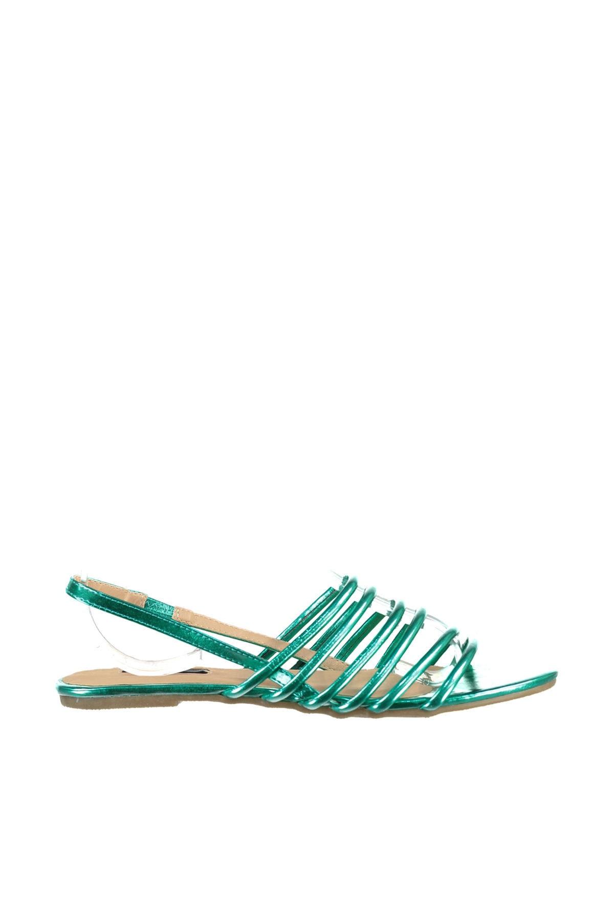 İnci Yeşil Kadın Sandalet 120116012610 2