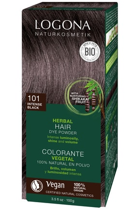 Logona Bitkisel Toz Saç Boyası - 101 Koyu Siyah 100g