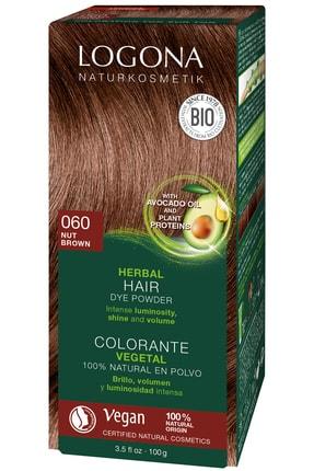 Logona Bitkisel Toz Saç Boyası - 060 Fındık Rengi 100G