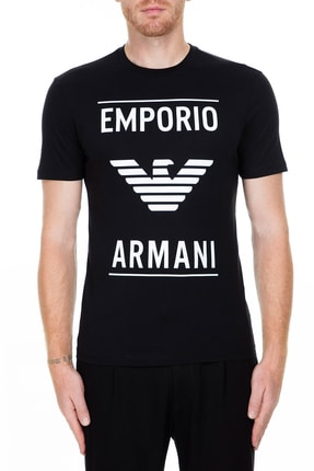 Emporio Armani Erkek Siyah T-Shirt 6G1TE7 1JNQZ 0999