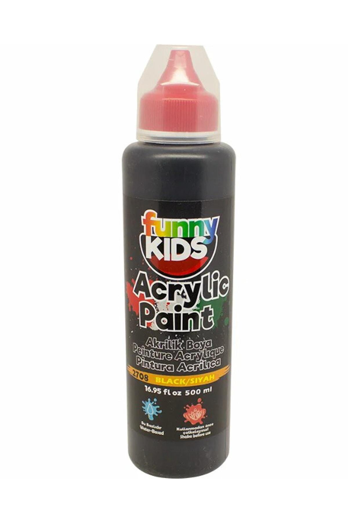 Rich Funny Kids Akrilik Boya 500ml - 2708 Siyah 1