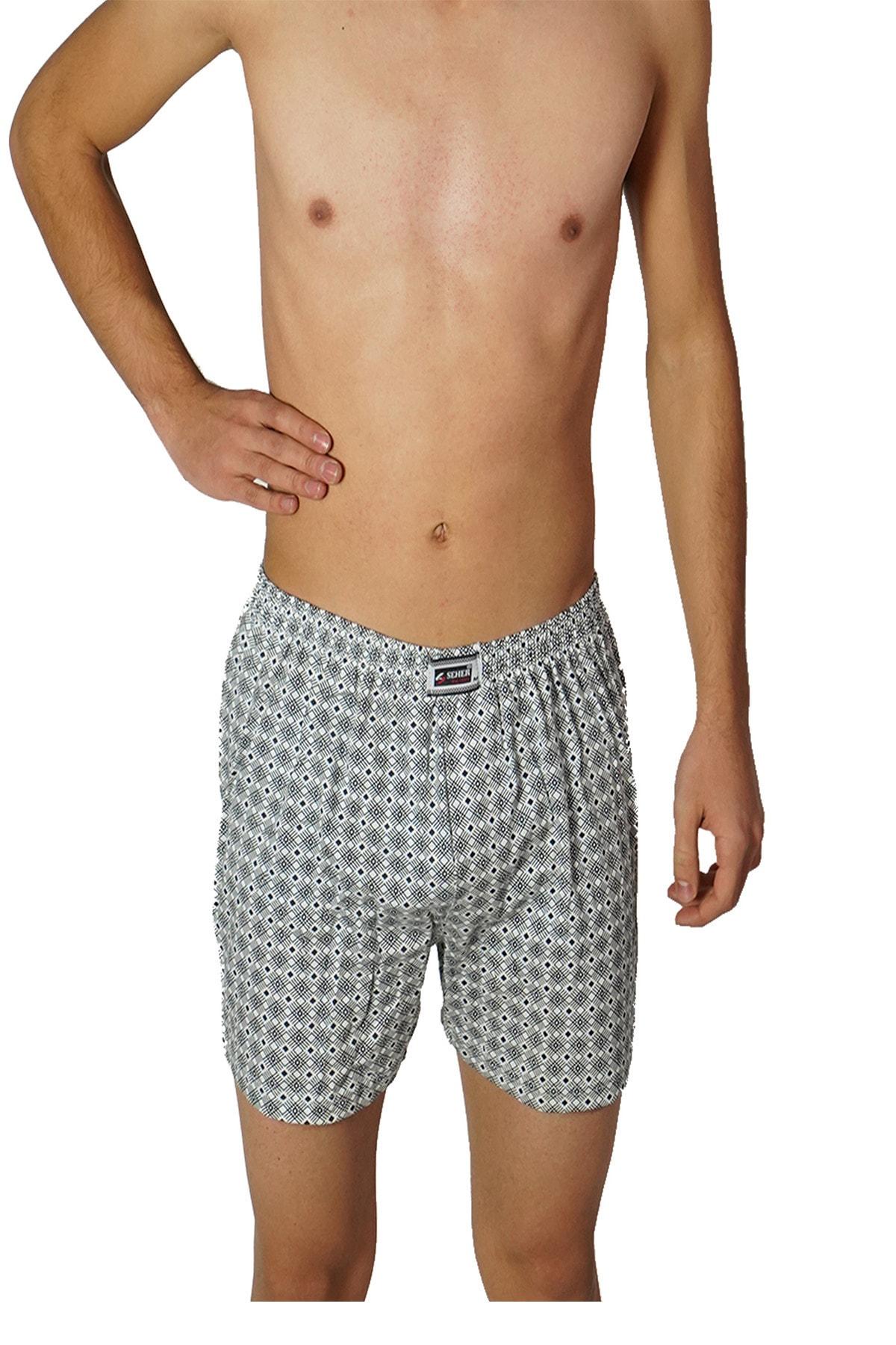 Seher Erkek Karişik 6'Lı Paket Seher Yıldızı Desenli Boxer Şort