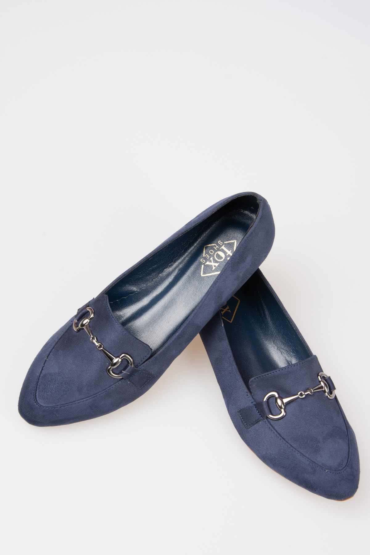 Fox Shoes Lacivert Kadın Babet G290010002 2