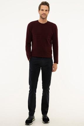 Pierre Cardin Erkek Lacivert Slim Fit Chino Pantolon