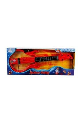 Eccho Işıklı ve Müzikli Gerçek Telli Gitar - Kırmızı