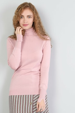 Colin's KADIN Slim Fit Balikci Kadın Pembe Kazak CL1040208