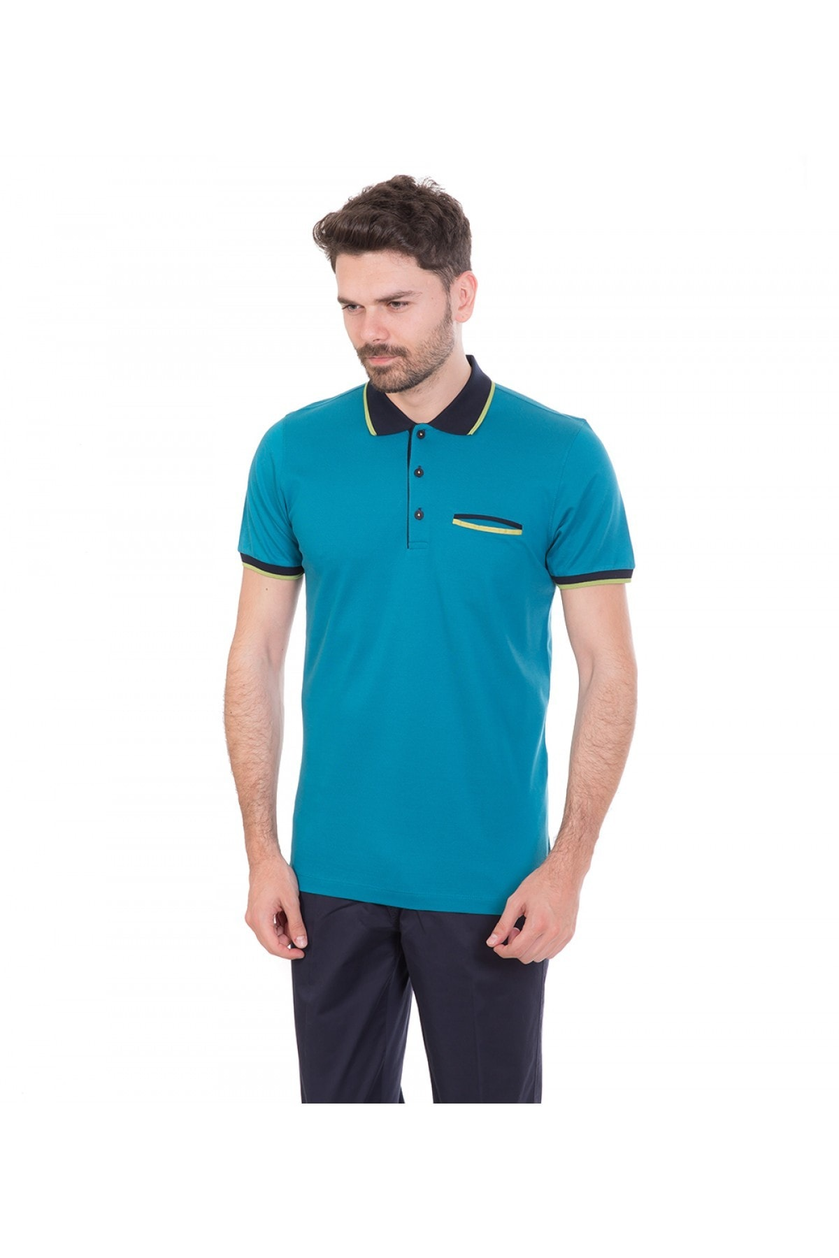 Karaca Petrol Erkek T-Shirt - 116206017