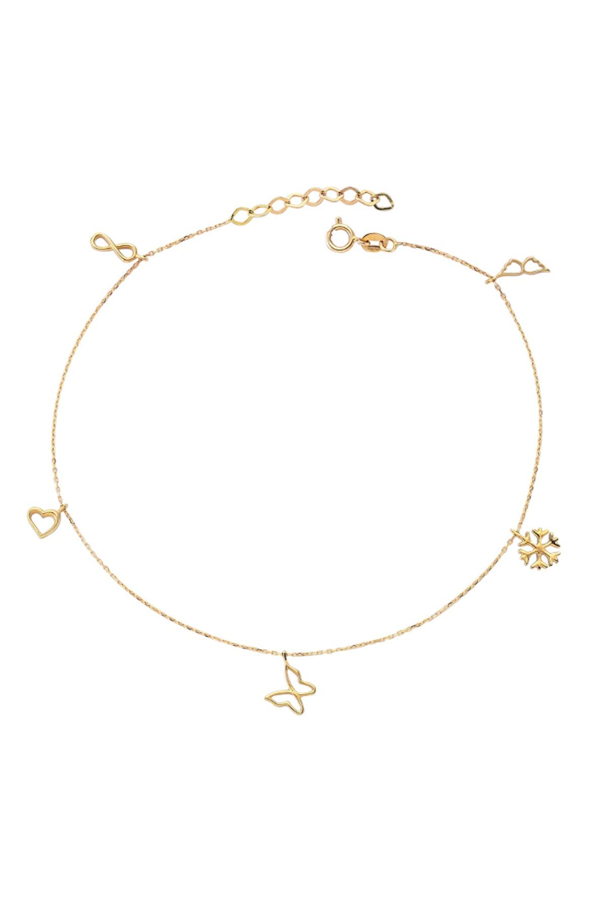 Glorria Kadın Altın Şans Sembollü Halhal CM0341 1