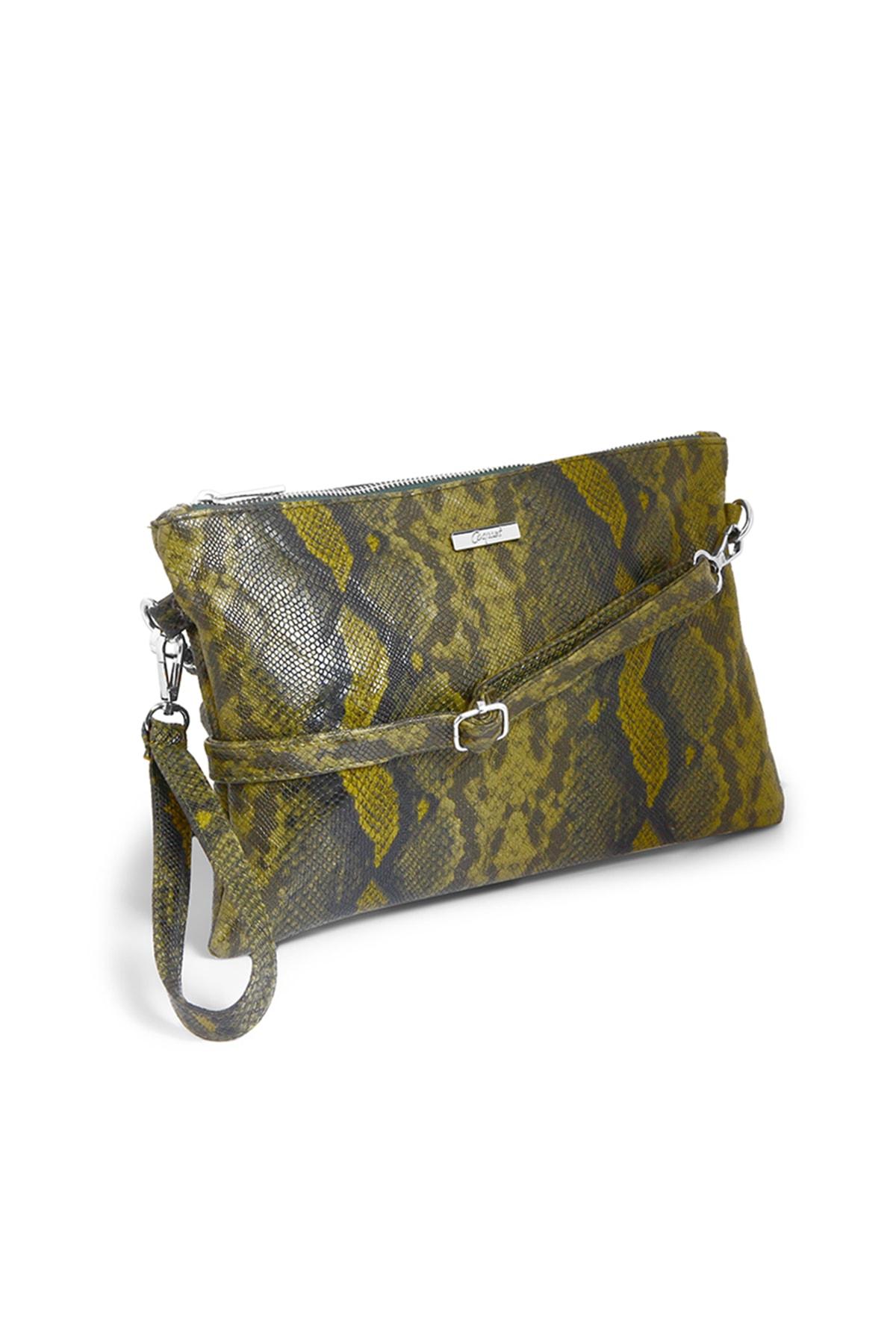 Coquet Accessories Kadın Yeşil Karite Clutch 19G3U13N078 2