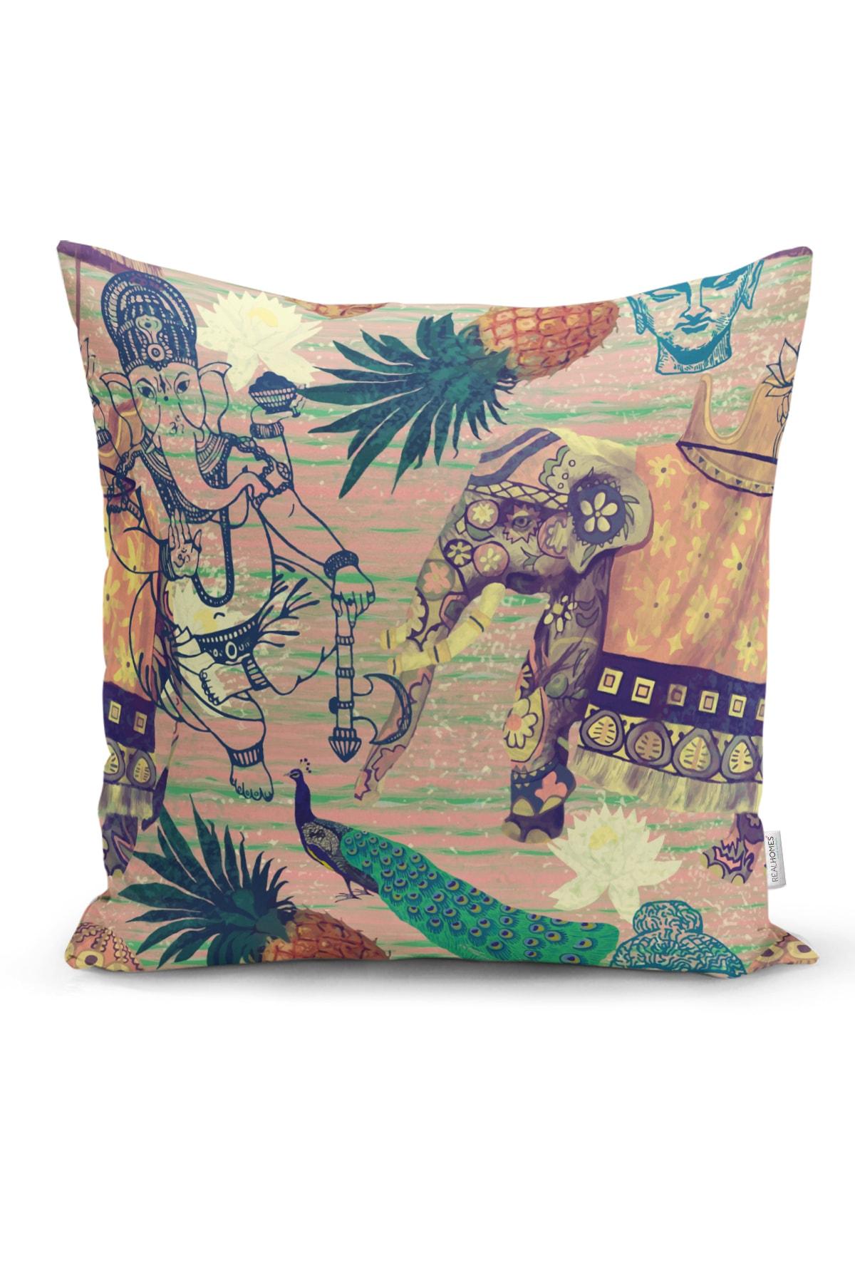 Realhomes Etnik Afrika Temalı Özel Tasarımlı Dekoratif Yastık Kırlent Kılıfı 1