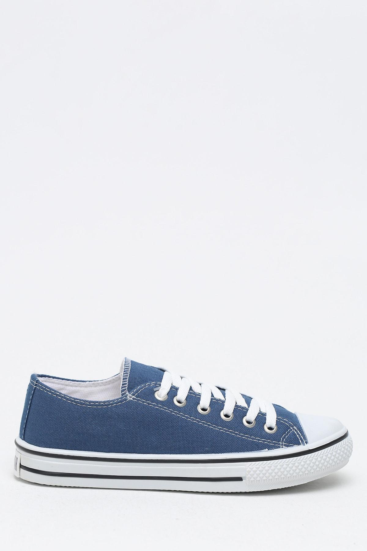 Ayakkabı Modası Lacivert Krem Kadın Ayakkabı M9999-19-100165R 1