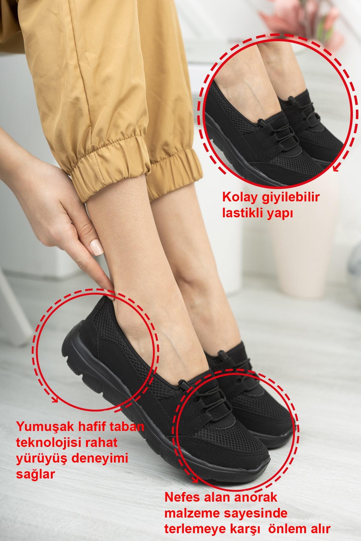 Fogs Kadın Siyah Rahat Taban Günlük Ayakkabı 2