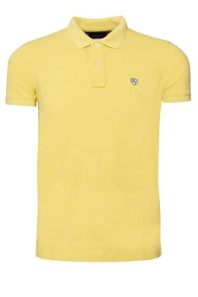 Lufian Erkek Diamos Basic Polo T- Shirt Sari 111040014100900