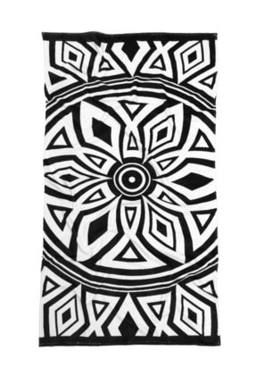 HAMUR Plaj Havlusu Mandala Siyah 80x150 cm E43pr0650033hm