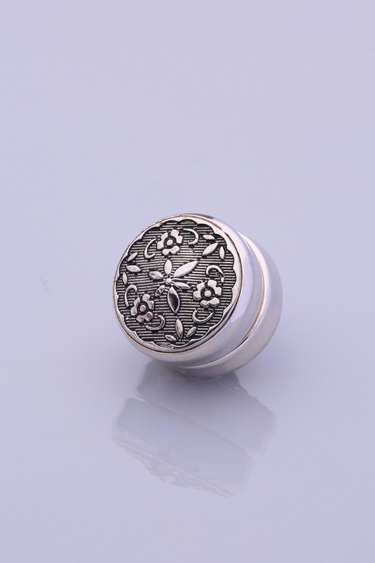 Fsg Takı Antresit Gümüş Kaplama Eşarp Mıknatısı 1