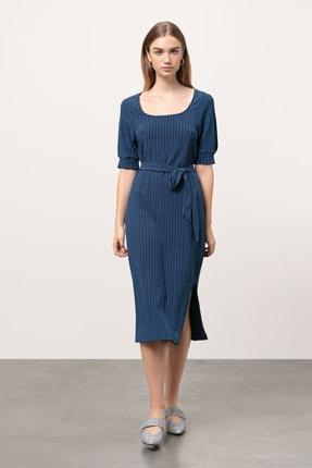 Mudo Kadın Lacivert Bağlamalı Maxi Elbise 352679