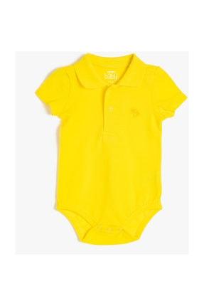 Koton Kids Erkek Bebek Sarı Bebek Body & Zıbın