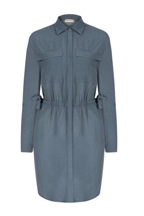 Mudo Kadın Gri Mavi Mini Gömlek Ebise 351372
