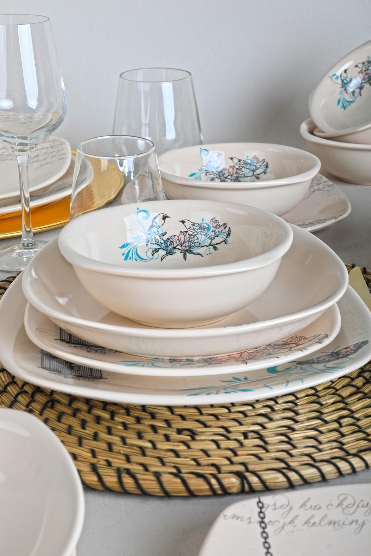 Keramika Retro Yemek Takımı 24 Parça 6 Kişilik 2