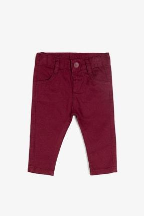 Koton Erkek Bebek Bordo Cep Detayli Pantolon