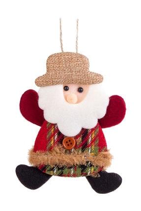 Kullan At Market Yılbaşı Noel Baba Naturel Şapkalı Pelüş Asma Süs 13cm 1 Adet