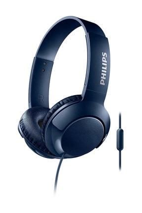 Philips SHL3075BL/00  Bass+ Mikrofonlu Mavi Kulaklık