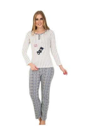 walkie Pijama Takımı Beyaz Gri