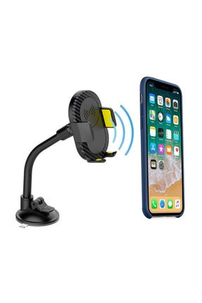 S-LINK S-link Sl-atw10 Universal Ayarlanabilir Sarı/siyah 5v1a Kablosuz Şarjlı Araç Telefon Tutucu