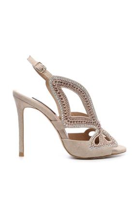 KEMAL TANCA Hakiki Deri Bej Kadın Klasik Topuklu Ayakkabı 299 709 80 BN AYK Y19