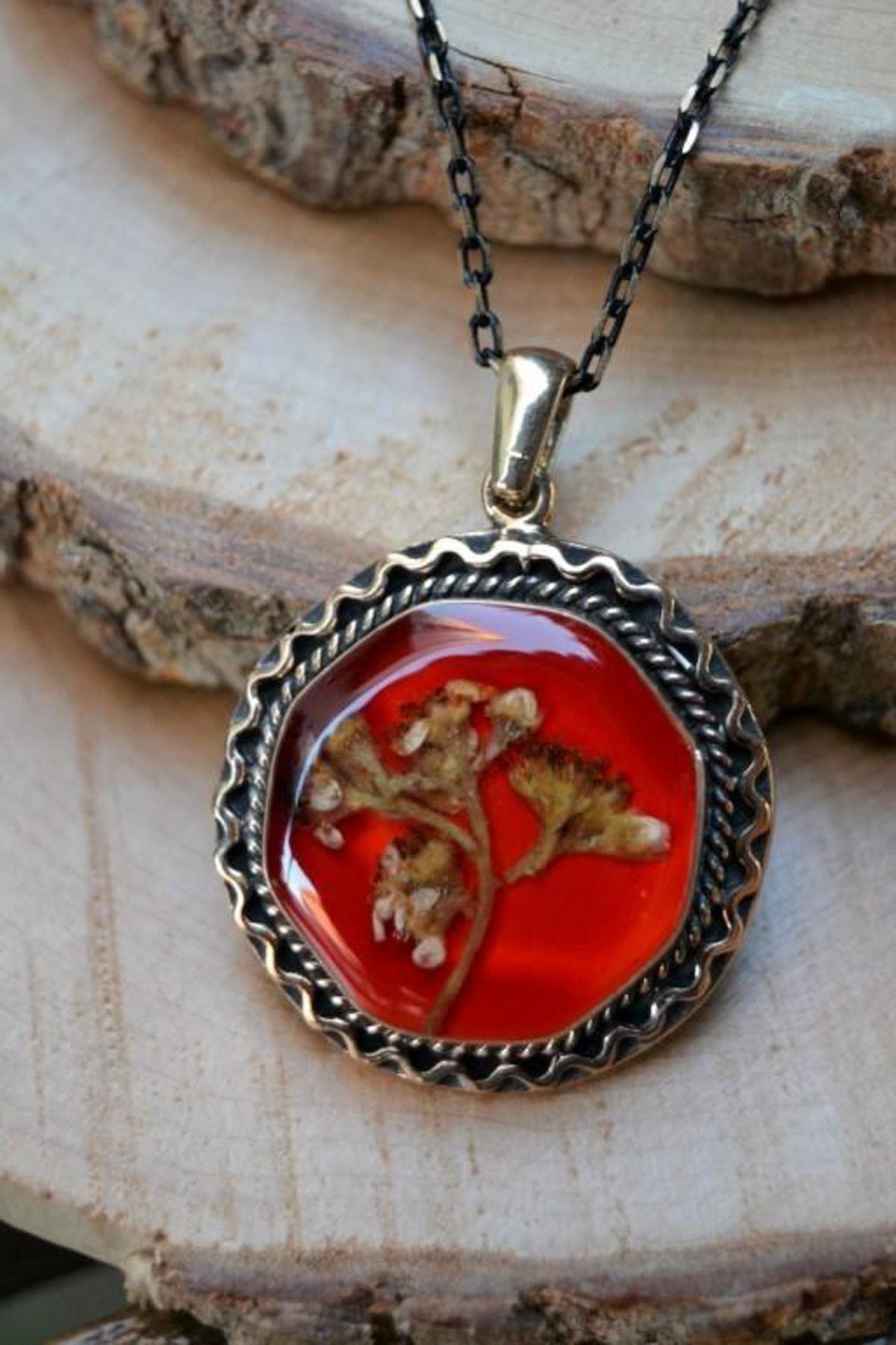 Stoneage Jewellery Kuru Çiçek Bayan Kolye 2