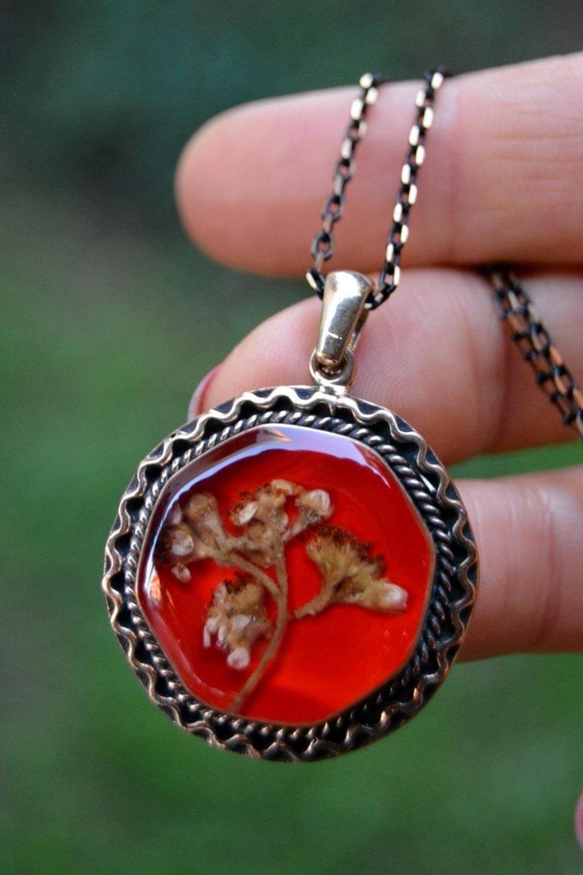 Stoneage Jewellery Kuru Çiçek Bayan Kolye 1