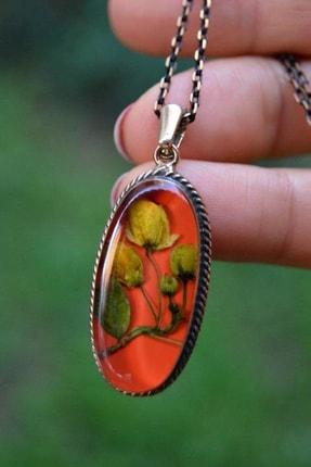 Stoneage Jewellery Kuru Çiçek Bayan Kolye