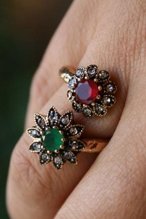 Stoneage Jewellery Bronz Yüzük Çift Çiçek
