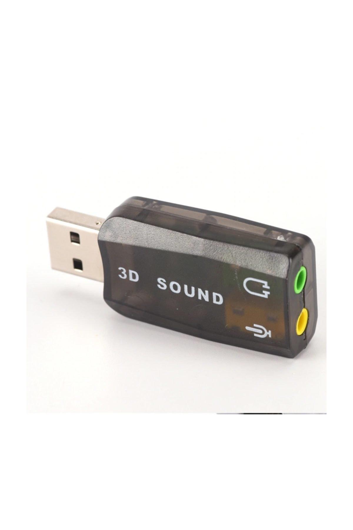 Alfais 4504 5+1 Harici Laptop Usb Ses Kartı 3.5mm Kulaklık Mikrofon Çevirici 2