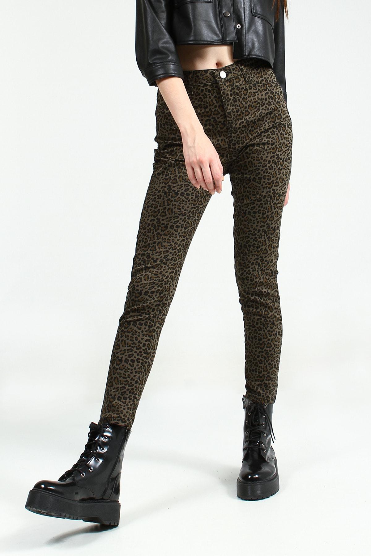 Collezione Kadın Haki Skinny Pantolon Sersiya Ucb021845A44 UCB021845A44 2