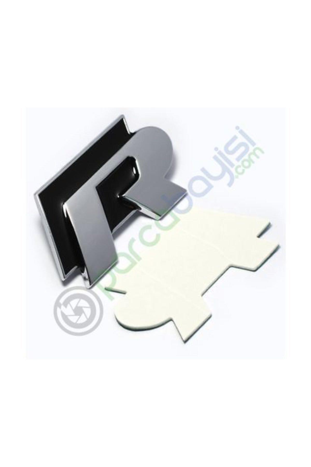 Volkswagen R Logo Metal 3d Amblem Orjinal Style Siyah 2