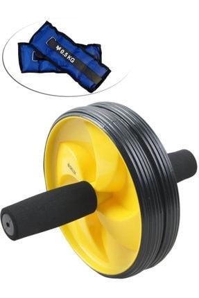 Delta Ab Slider Deluxe Egzersiz Tekerleği Tekerlek Çalışma Spor Aleti + Bilek Ağırlığı 0.5kgx2adet