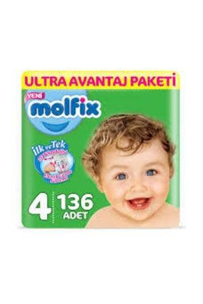 Molfix Bebek Bezi Ultra Avantaj Paketi 4 Numara 136 Adet