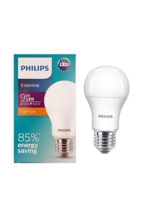 Philips Phılıps Essentıal Led Ampul 9w-60w Sarı Işık E27 Normal Duy