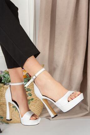 derithy Astrea Topuklu Ayakkabı-beyaz Rugan-byc1801