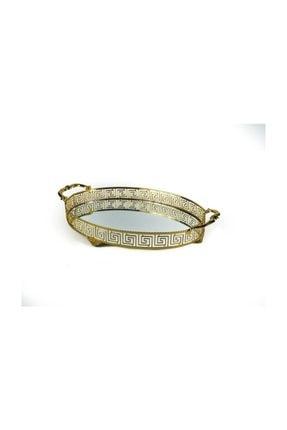 KR Oval Versace Kulplu Tepsi 40 cm